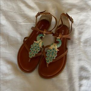 Gianni Bini Peacock Sandals 7.5